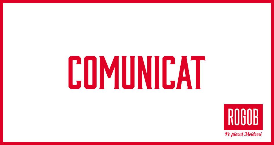 "COMUNICAT DE PRESĂ AL FPC ""ROGOB"" SRL"