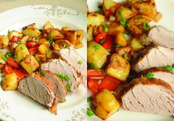 Mușchiuleț de porc cu cartofi la cuptor